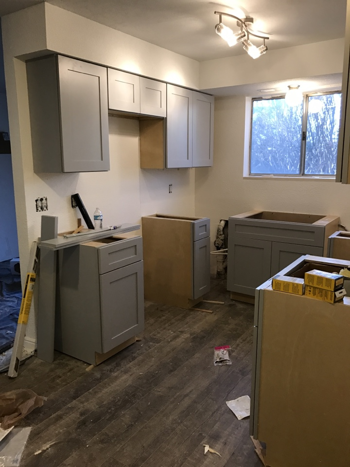 Millcreek, UT - Installed new kitchen cabinets this weekend for a condo we purchased in Millcreek. We purchased the property from the family members of a loved one that had recently passed away.