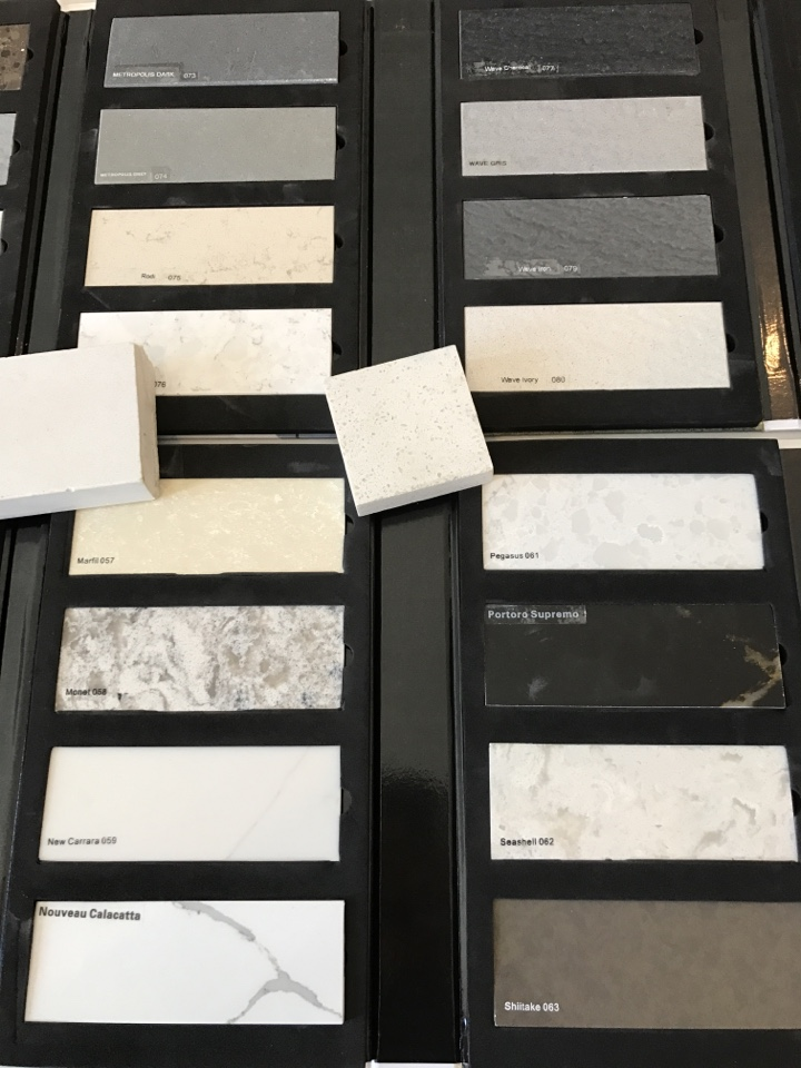 Millcreek, UT - Deciding what color quartz we should do for the countertops of our Quilvista condo project in Millcreek.