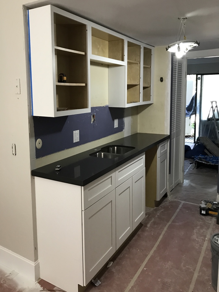 Millcreek, UT - Checking in on the progress of our Millcreek project. Granite was installed today. Purchased this condo two months ago to avoid foreclosure.