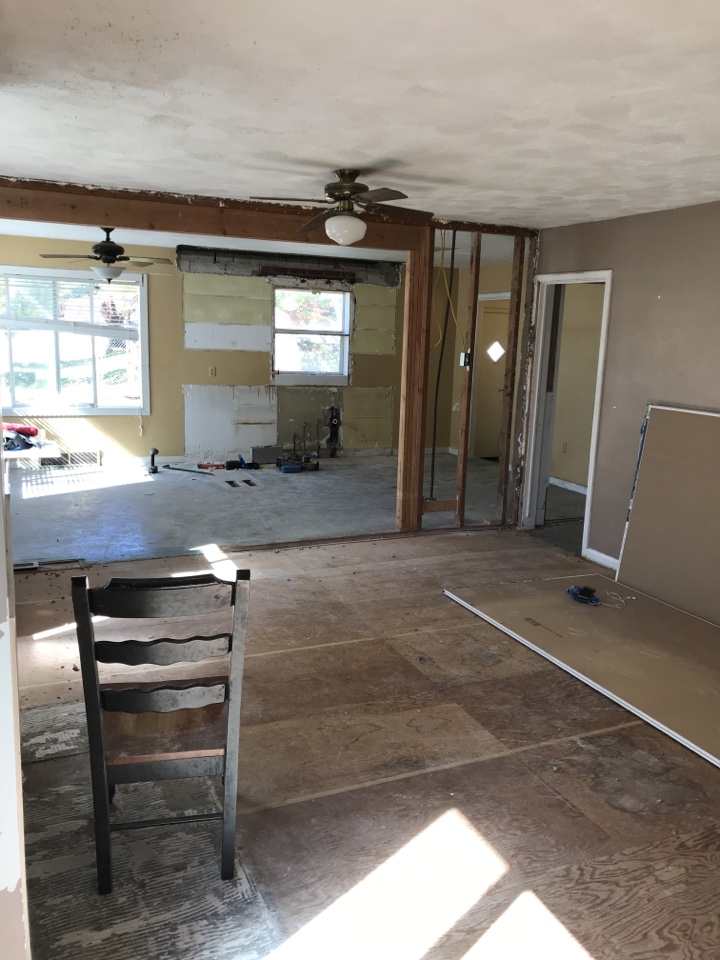 Riverton, UT - Reviewing our scope of work for a house we bought CASH with our project manager
