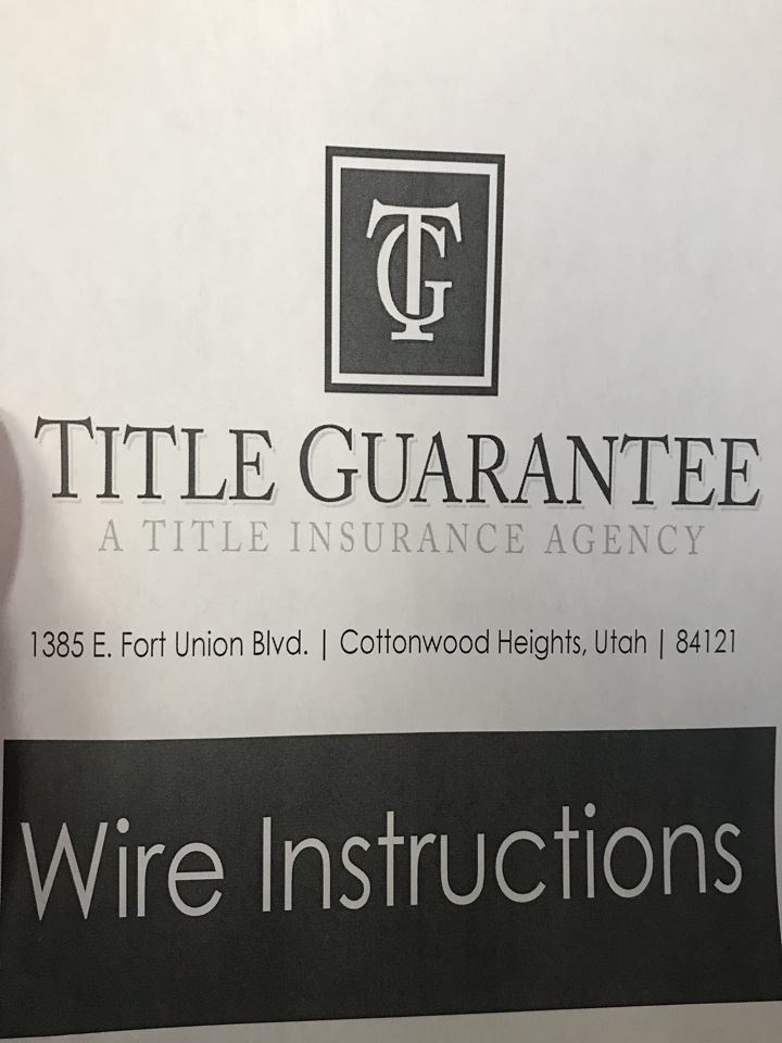 Cottonwood Heights, UT - SELL MY HOUSE CASH. Leaving a closing at Title Guarantee where we purchased a home for cash without the sellers paying real estate commissions!